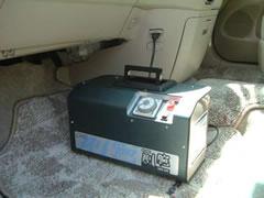 車内をオゾンで消臭